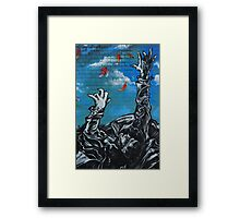 Danger from above! Framed Print