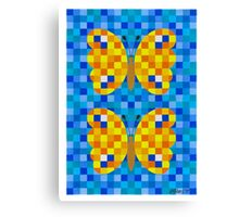 532 Squares And 2 Butterflies - Brush And Gouache Canvas Print
