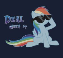 My Little Pony - MLP - Rainbow Dash - Deal With It Baby Tee