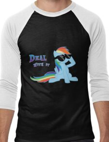 My Little Pony - MLP - Rainbow Dash - Deal With It Men's Baseball ¾ T-Shirt