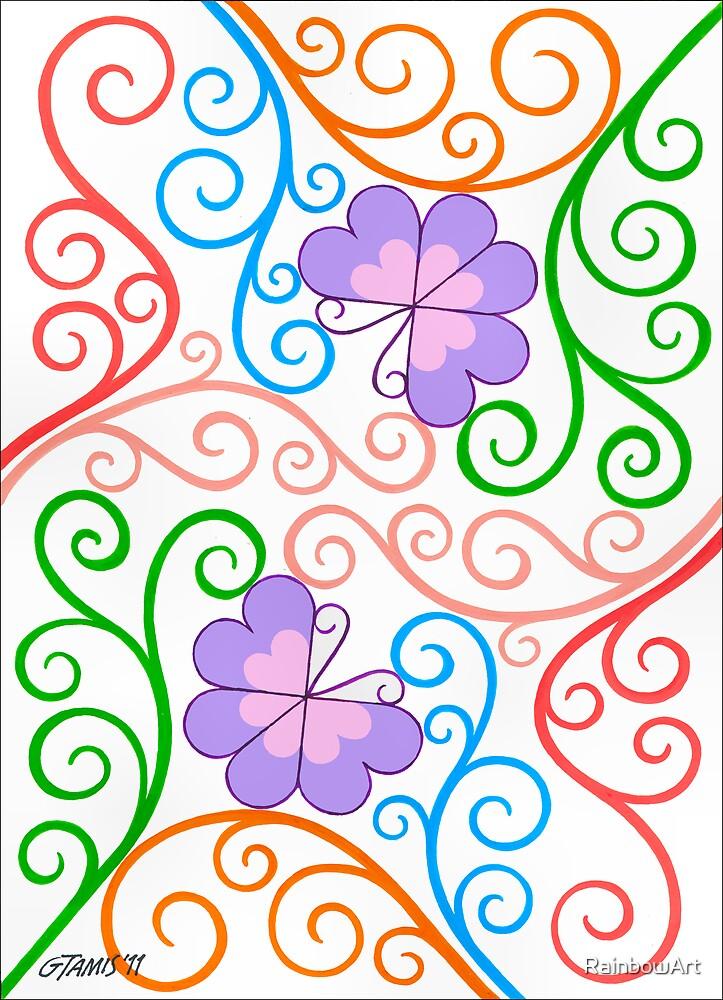 Romantic Butterflies - Brush And Gouache by RainbowArt
