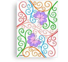 Romantic Butterflies - Brush And Gouache Canvas Print