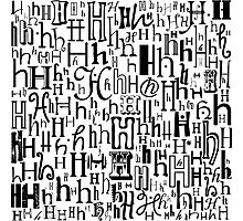 The Letter H Photographic Print