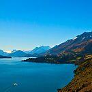 Lake Wakatipu afternoon pano by Odille Esmonde-Morgan