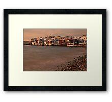 Little Venice, Mykonos Framed Print