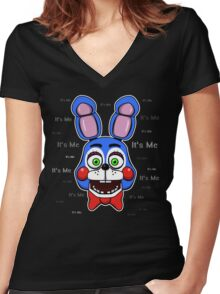 Five Nights at Freddy's - FNAF 2 - Toy Bonnie - It's Me Women's Fitted V-Neck T-Shirt