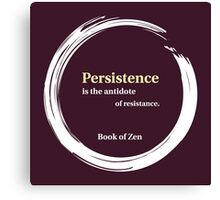 Quote About Motivation & Persistence Canvas Print