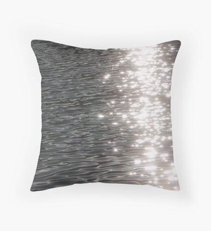 Glittery Water Throw Pillow