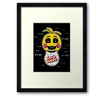 Five Nights at Freddy's - FNAF 2 - Toy Chica - It's Me Framed Print