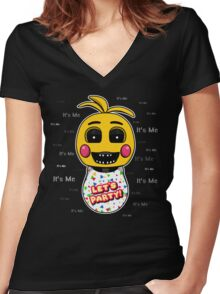 Five Nights at Freddy's - FNAF 2 - Toy Chica - It's Me Women's Fitted V-Neck T-Shirt