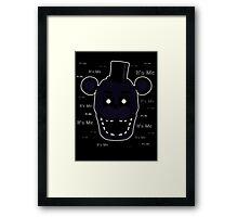 Five Nights at Freddy's - FNAF 2 - Shadow Freddy - It's Me Framed Print