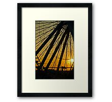Big Wheel Sunset Framed Print