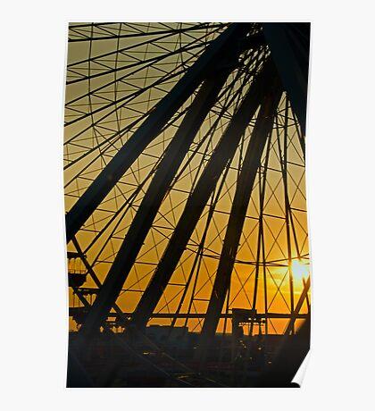 Big Wheel Sunset Poster