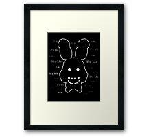 Five Nights at Freddy's - FNAF 2 - Shadow Bonnie - It's Me Framed Print