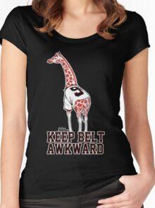 Keep Belt Awkward Giraffe Women's Fitted Scoop T-Shirt
