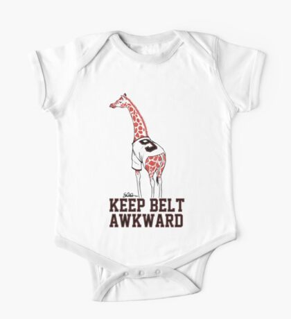 Keep Belt Awkward Giraffe One Piece - Short Sleeve
