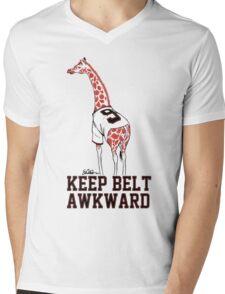 Keep Belt Awkward Giraffe Mens V-Neck T-Shirt