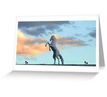 Blue Bronco Greeting Card