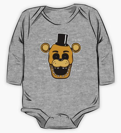 Five Nights at Freddy's - FNAF - Golden Freddy - It's Me One Piece - Long Sleeve