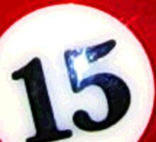 Red 15-Ball Billiard Pool Ball Sticker Sticker