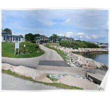 Monahan's Dock And Exit Road - Narragansett RI Poster