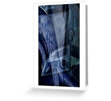Auto Abstract - Blue (02) Greeting Card