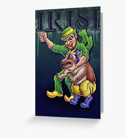 Irish vs Wolverine Greeting Card