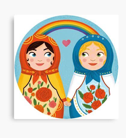 Russian doll brides Canvas Print
