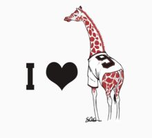 I ♥ Belt Giraffe (Version 2) Kids Clothes