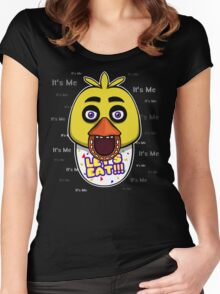 Five Nights at Freddy's - FNAF - Chica - It's Me Women's Fitted Scoop T-Shirt