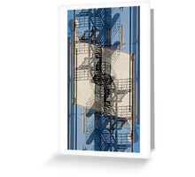 Cubist Fire Escape Greeting Card