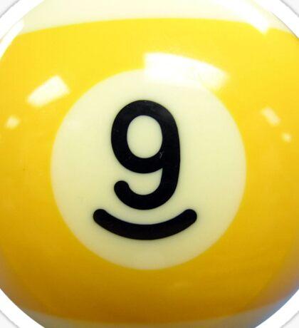 Yellow 9 Ball Billiard Pool Ball Sticker Sticker