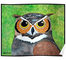 Great Horned Owl Painting Poster