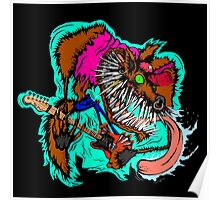 Wolfie the Guitar Shreddin' Wolf Poster