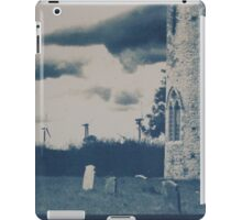 Cyanotype of Somerton Church & Wind Farm iPad Case/Skin