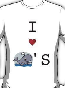 I <3 Whales T-Shirt