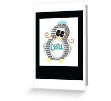 Chill Penguin Greeting Card