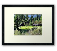 Whitefish Homestead (Montana, USA) Framed Print