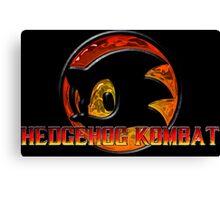 Mortal Hedgehog! MORTAL KOMBAT/SONIC THE HEDGEHOG MASH UP Canvas Print