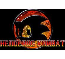 Mortal Hedgehog! MORTAL KOMBAT/SONIC THE HEDGEHOG MASH UP Photographic Print