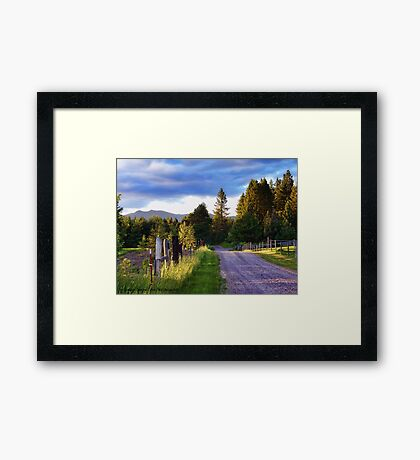 Farm Access Road Framed Print