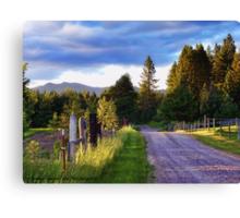 Farm Access Road Canvas Print