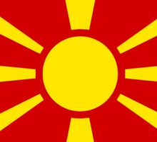 Macedonia flag and outline Sticker