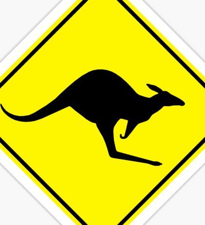 Kangaroos Yellow Diamond Warning Road Sign Die Cut Sticker Sticker