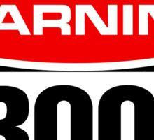 Groom Warning Sign Sticker