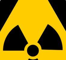 Radioactive Yellow Triangle Warning Road Sign Sticker