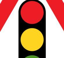 Traffic Signals Warning Triangle Road Sign Sticker Sticker