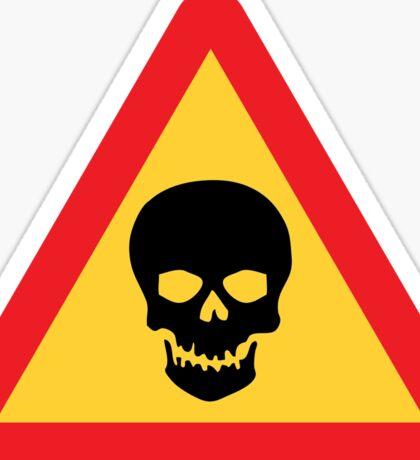 Dangerous Area Warning Triangle Road Sign Sticker