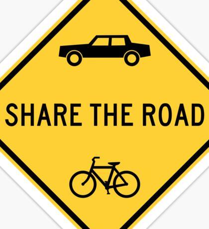 Share The Road Yellow Diamond Warning Road Sign Sticker