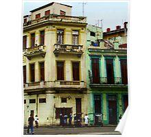 Street Scene, Havana, Cuba Poster